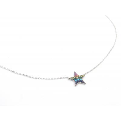 Colgante Plata Colour Estrella