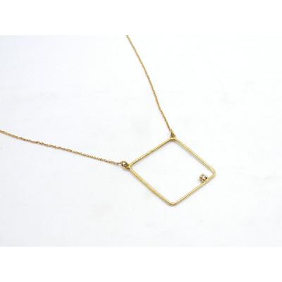 Colgante Oro Amarillo Singular Geometric