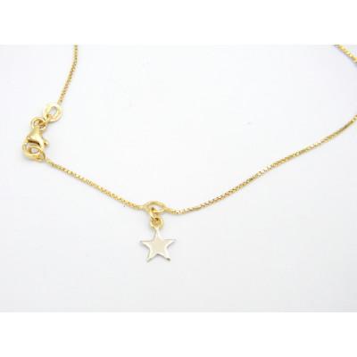 Tobillera Oro Amarillo Estrella