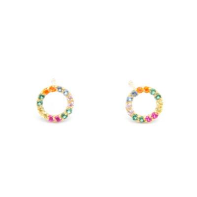 Arracades Or Groc Color Cercle Mini