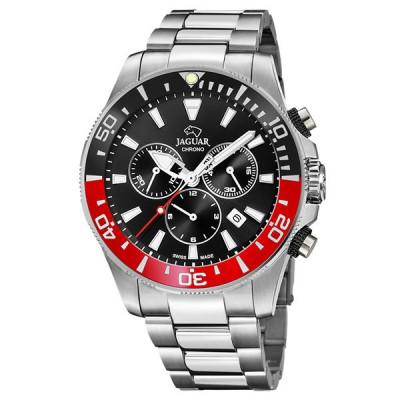 Reloj Jaguar Acero Rojo