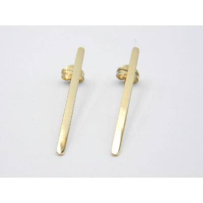 Pendientes Oro Amarillo Singular Barrita