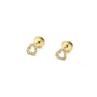 Pendientes Oro Amarillo Corazón Symbol