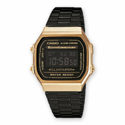Reloj Casio Collection Dorado Negro A168WEGB-1BEF