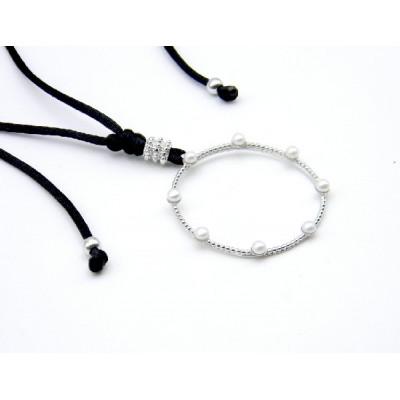 Penjoll Plata Top Silver Perles