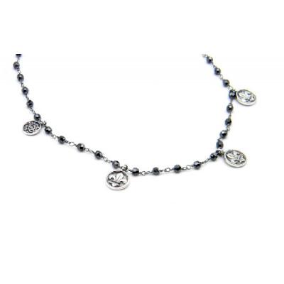 Collaret Top Silver Rosari