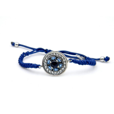 Pulsera Top Silver Círculo azul