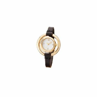 Reloj Uno de 50 Dorado  Correa Piel Marrón