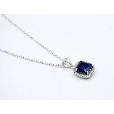 Penjoll Plata Blau Zirconites