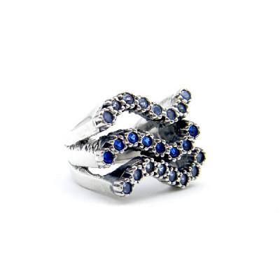 Anillo Plata Top Silver Azul
