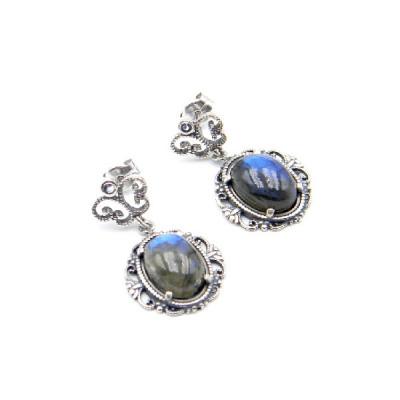 Pendientes Top Silver Opal