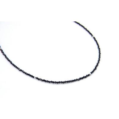 Collar Plata Y Espinel Negro