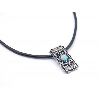 Colgante Top Silver Amazonita Azul