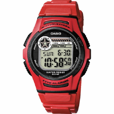 Rellotge Casio Collection Vermell W-213-4AVES