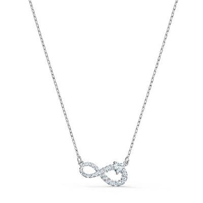 Collar Swarovski Infinity, blanco, baño 5520576