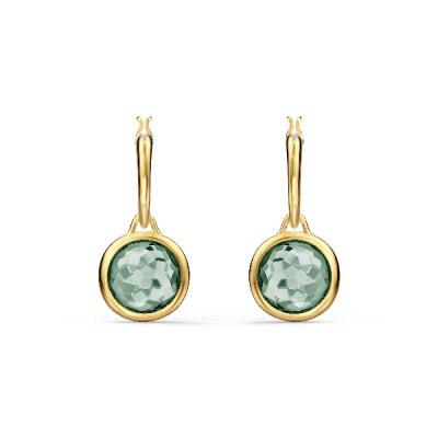 Pendientes de aro Tahlia Mini, verde, baño tono oro5572587