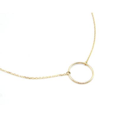 Colgante Oro Amarillo Círculo Basic