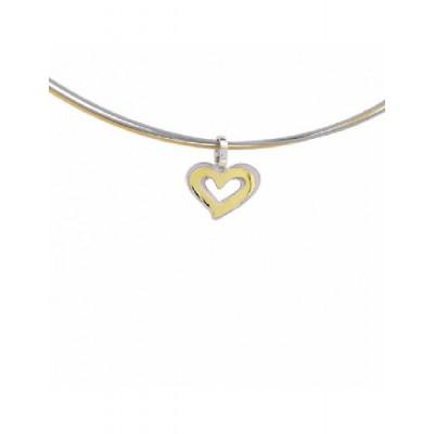 Colgante Corazón Plata y Oro Miquel Sardà