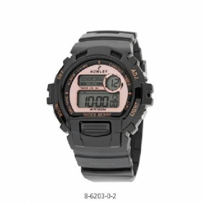 Rellotge Digital Nowley Negre i Rosat
