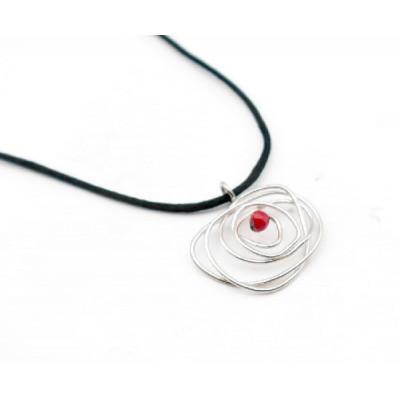Colgante Sant Jordi Singular Rosa