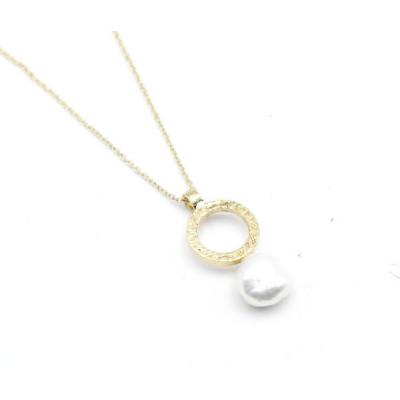 Penjoll Cercle i Perla Plata Daurada Top Silver