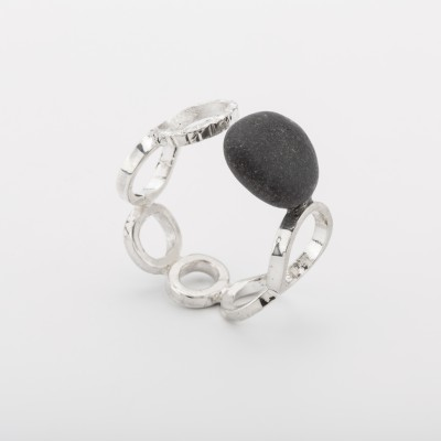 Anillo Equilibris Impossibles Negro